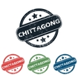 Round Chittagong city stamp set vector image vector image