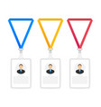 set identification card for man trendy flat vector image vector image