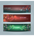 set of abstract colorful bokeh banners vector image