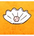 Shell Pearl Cartoon vector image