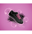 sports shoe background vector image vector image