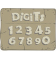 stylized old stone digits vector image