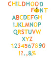 stylized paint-like alphabets vector image
