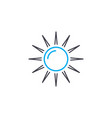 sunbathing on the beach linear icon concept vector image