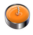 tea or floating candle in an aluminum sleeve vector image