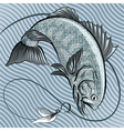 The fish in grey vector image vector image