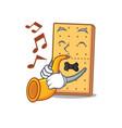 trumpet graham cookies mascot cartoon vector image vector image