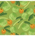 Vegetables seamless pattern Hand drawn with