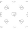 video chat pattern seamless vector image vector image