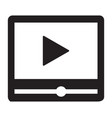 video player interface icon vector image vector image