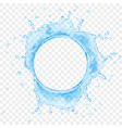 water crown with drops top view vector image vector image