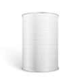 White Blank Tincan Metal Tin Can Canned Food vector image vector image