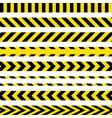 yellow and black danger ribbons vector image vector image