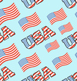 USA patriotic seamless pattern American flag vector image
