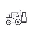 loader truck line icon sign vector image