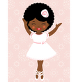 Cute dancing ballerina vector image