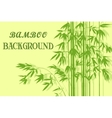 Bamboo with Leaves Green Silhouettes vector image