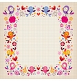 birds and flowers border vector image vector image