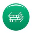book school icon green vector image vector image