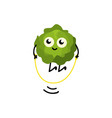 brussels sprouts jumping rope with pleasure and vector image vector image