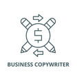 business copywriter line icon linear vector image vector image