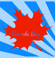 canada day blue background rays from the corner vector image