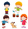 Characters Kids vector image vector image
