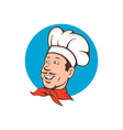 Chef Cook Baker Smiling Cartoon vector image vector image