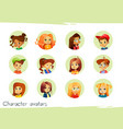 children characters avatars of vector image