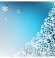 Christmas elegant blue background EPS 10 vector image vector image