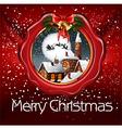 christmas wax seal vector image