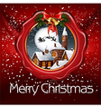 christmas wax seal vector image vector image