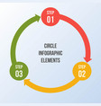circle chart circle arrows infographic or cycle vector image