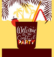 cocktail party holiday invitation background for vector image vector image