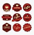 coffee badge design vector image