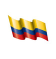 colombia flag on a white vector image vector image