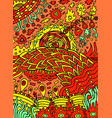 colorful hippie psychedelic abstract doodle art