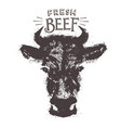 cows head in form a stain in a graphic vector image