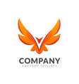 creative simple winged eagle logo vector image vector image