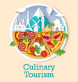 culinary tourism poster banner template vector image