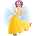 Cute Fairy with Magic Wand Spreading Love C vector image