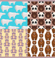 different style bears seamless pattern background vector image vector image