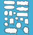 doodle blank empty white speech bubbles vector image vector image