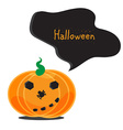 Emotional Halloween pumpkins vector image