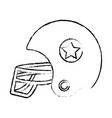 figure football helment to uniform to play sport vector image