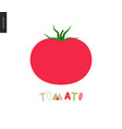food patterns vegetable fruit tomato vector image vector image