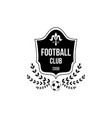 football club logo with shield badge shape and vector image vector image