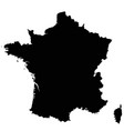 france map outline vector image