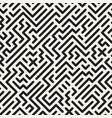 geometric monochrome striped seamless pattern vector image vector image