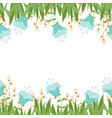 greeting card with seamless floral border perfect vector image vector image
